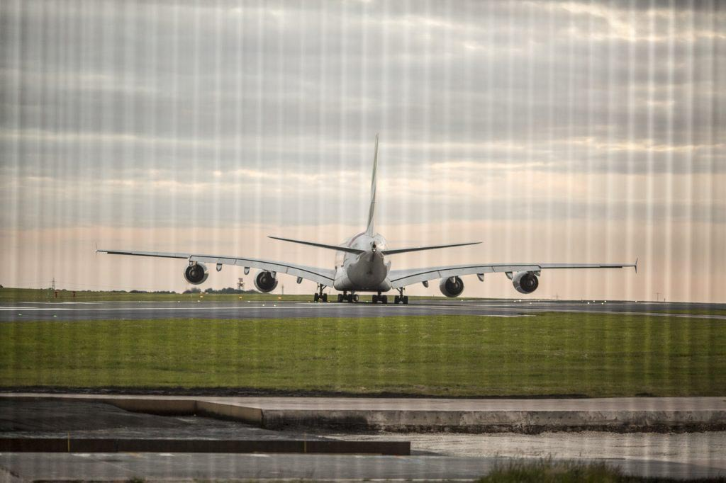 manchester airport , a380 taking off, aeroplane