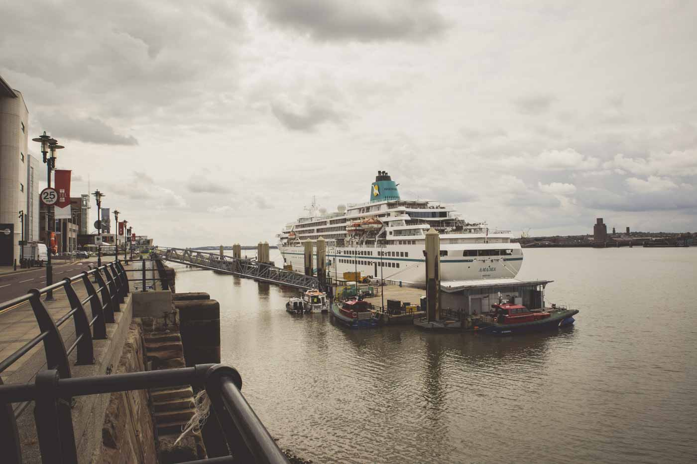 boat, ocean, liverpool, cruise ship, docks