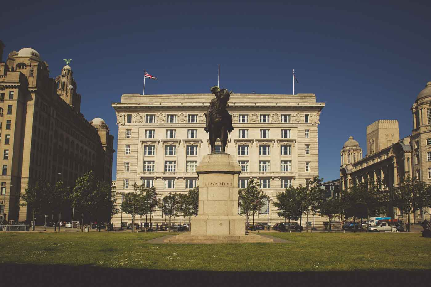 king edward vii statue, liverpool